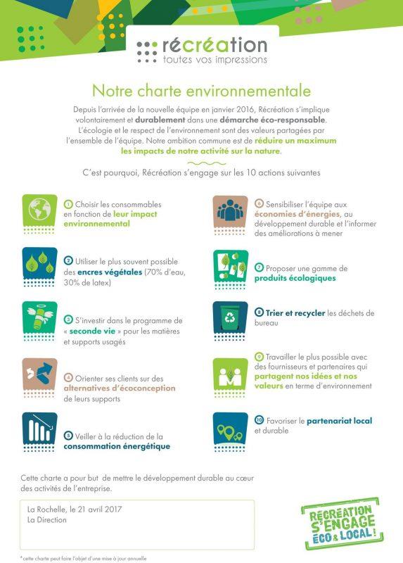 charte écologique démarche environnementale