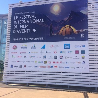 Toile réalisée pour le Festival International du Film d'Aventure 2017