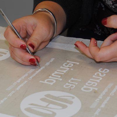 Échenillage pour flocage textile
