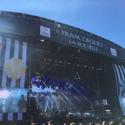 Toiles pour la grande scène des Francofolies de La Rochelle