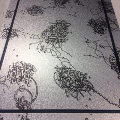 Impression numérique sur plateau alu texturé