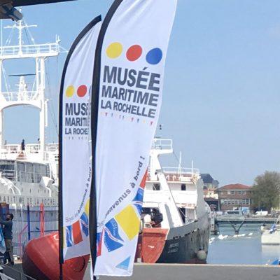 Oriflamme pour le musée maritime de La Rochelle